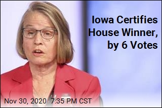 Iowa Certifies House Winner, by 6 Votes