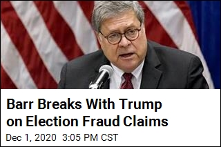 Barr Breaks With Trump on Election Fraud Claims