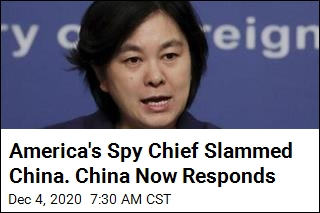China on US Spy Chief's Slam: a 'Hodgepodge of Lies'