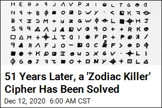 51 Years Later, a 'Zodiac Killer' Cipher Has Been Solved