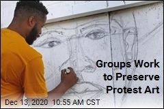 Groups Work to Preserve Protest Art