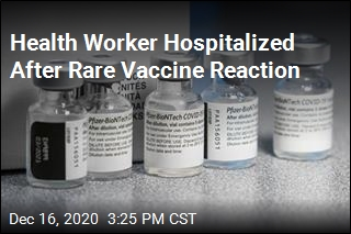 Health Worker Hospitalized After Rare Vaccine Reaction