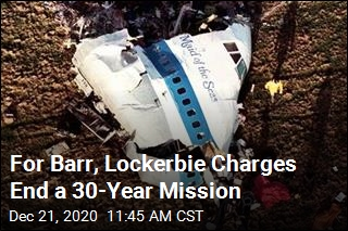 For Barr, Lockerbie Charges End a 30-Year Mission