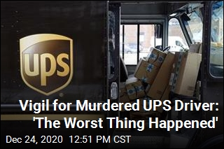 UPS Drivers Hold Vigil for Murdered Colleague