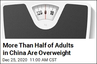 More Than Half of Adults in China Are Overweight