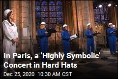Notre Dame's Choir Sings, but They Need Hard Hats