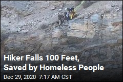 Hiker Falls 100 Feet, Lands on Cliff Ledge