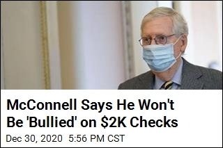 McConnell Blocks Vote on $2K Checks for Second Day