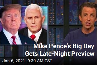 Mike Pence's Big Day Gets Late-Night Preview