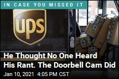 UPS Driver Fired Over Rant Caught on Doorbell Cam