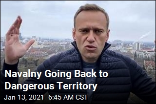 Defiant Navalny Going Back to Russia