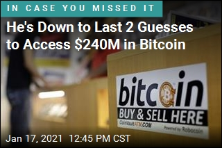He's Down to Last 2 Guesses to Access $240M in Bitcoin