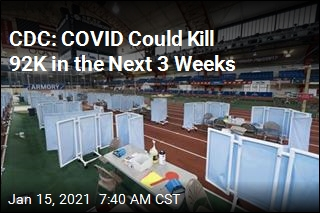 CDC: COVID Could Kill 92K in the Next 3 Weeks