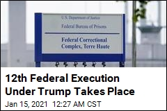 12th Federal Execution Since Trump Reinstated Them Takes Place