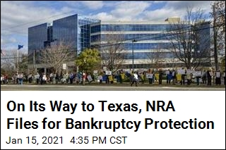 On Its Way to Texas, NRA Files for Bankruptcy Protection