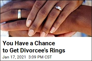 'Celebrating' Her Divorce, Woman Is Giving Away Rings