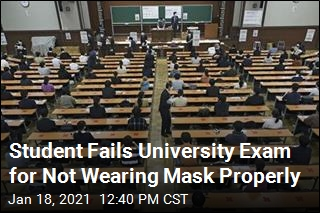 Student Fails University Exam for Not Wearing Mask Properly