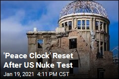 Hiroshima Peace Clock Reset After US Nuke Test