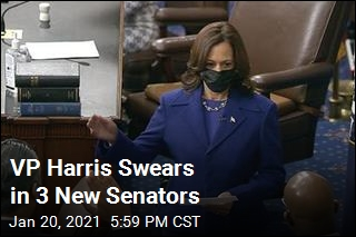 VP Harris Swears in 3 New Senators