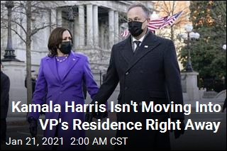 Kamala Harris Won't Move In to VP's Residence Right Away