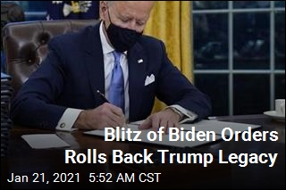 Blitz of Biden Orders Rolls Back Trump Legacy