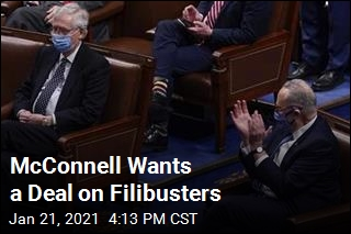 Democrats Don't Buy McConnell's Filibuster Plan