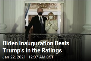 Biden Inauguration Beats Trump's in the Ratings