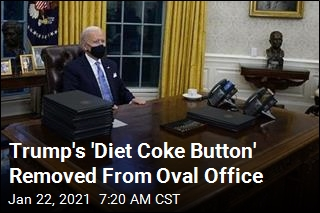 Trump's 'Diet Coke Button' Gone From Biden's Desk
