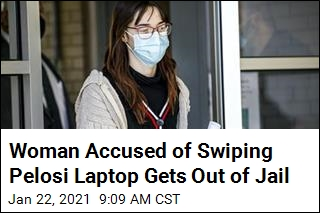 Woman Accused of Swiping Pelosi Laptop Gets Out of Jail