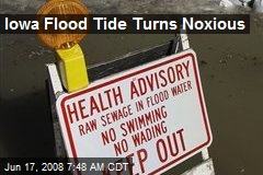Iowa Flood Tide Turns Noxious