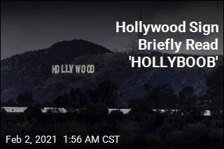 Hollywood Sign Changed to Read 'HOLLYBOOB'