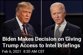 Biden Makes Decision on Giving Trump Access to Intel Briefings