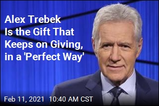 Alex Trebek Is the Gift That Keeps on Giving, in a 'Perfect Way'