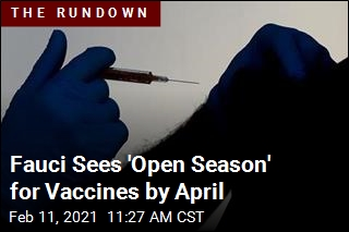 Fauci Sees 'Open Season' for Vaccines by April