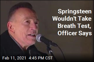Springsteen Was Wobbly During Sobriety Test: Officer