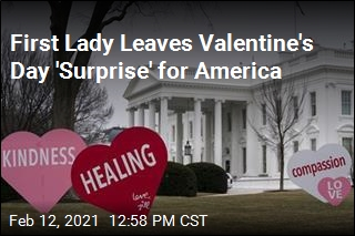 First Lady Leaves Valentine's Day 'Surprise' for America