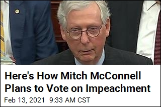 Here's How Mitch McConnell Plans to Vote on Impeachment
