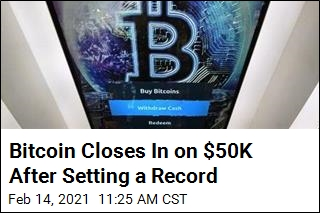 Bitcoin Closes In on $50K After Setting a Record