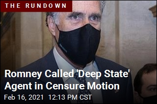 Romney Called 'Deep State' Agent in Censure Motion