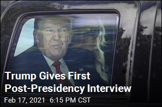 Trump Gives First Post-Presidency Interview
