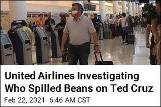 United Looking Into Who Shared Ted Cruz's Flight Info