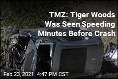 TMZ: Tiger Woods Was Seen Speeding Minutes Before Crash