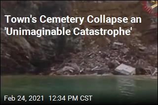 Cemetery Collapse Sends Coffins Into the Sea