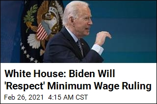 Biden 'Disappointed' by Minimum Wage Setback