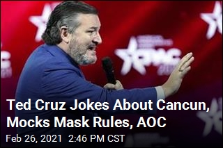 Ted Cruz Jokes About His Cancun Trip