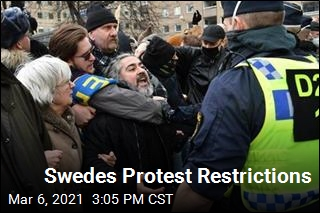 Sweden Has First Virus Protest