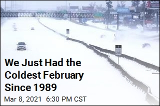 We Just Had the Coldest February Since 1989