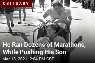 He Ran Marathons, While Pushing His Son