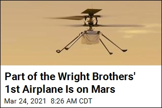 Part of the Wright Brothers' 1st Airplane Is on Mars
