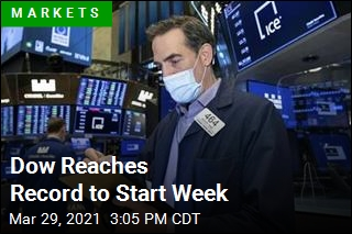 Dow Reaches Record to Start Week